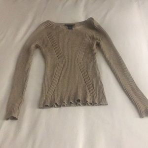 Gold sweater that is great for holidays!!